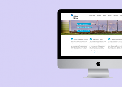 Website Delft Design for Values Institute (2017-2019)