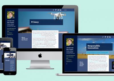 Portfolio Site prof. dr. Jeroen van den Hoven (2018)