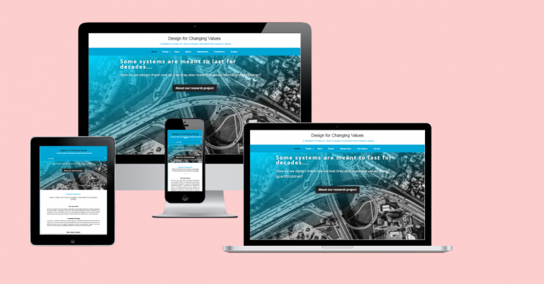 Website Research Project 'Design for Changing Values' (2019)