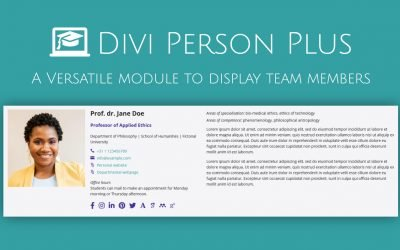 New: DIVI Person Plus Module