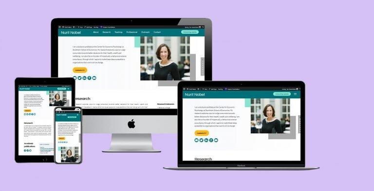 Academic resume website (2021)